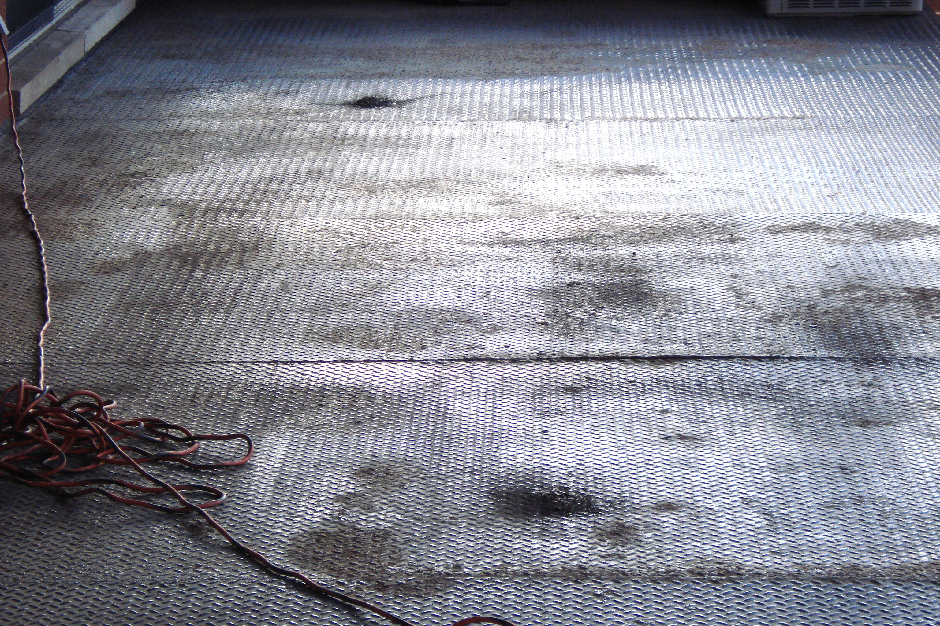 Rusted Metal Deck Before-Wicker Park-Aardvark Painting inc