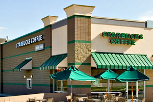 starbucks commercial painting in chicago Aardvark painting Rosemont Painting Contractors