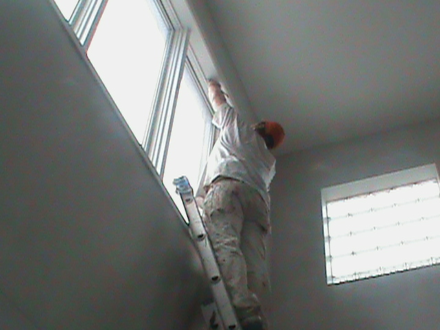 Townhouse Painting Chicago 2nd floor windows Aardvark Painting Inc.