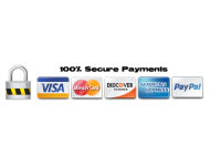 Payment Options: Visa, Mastercard, American Express, Discover, PayPal